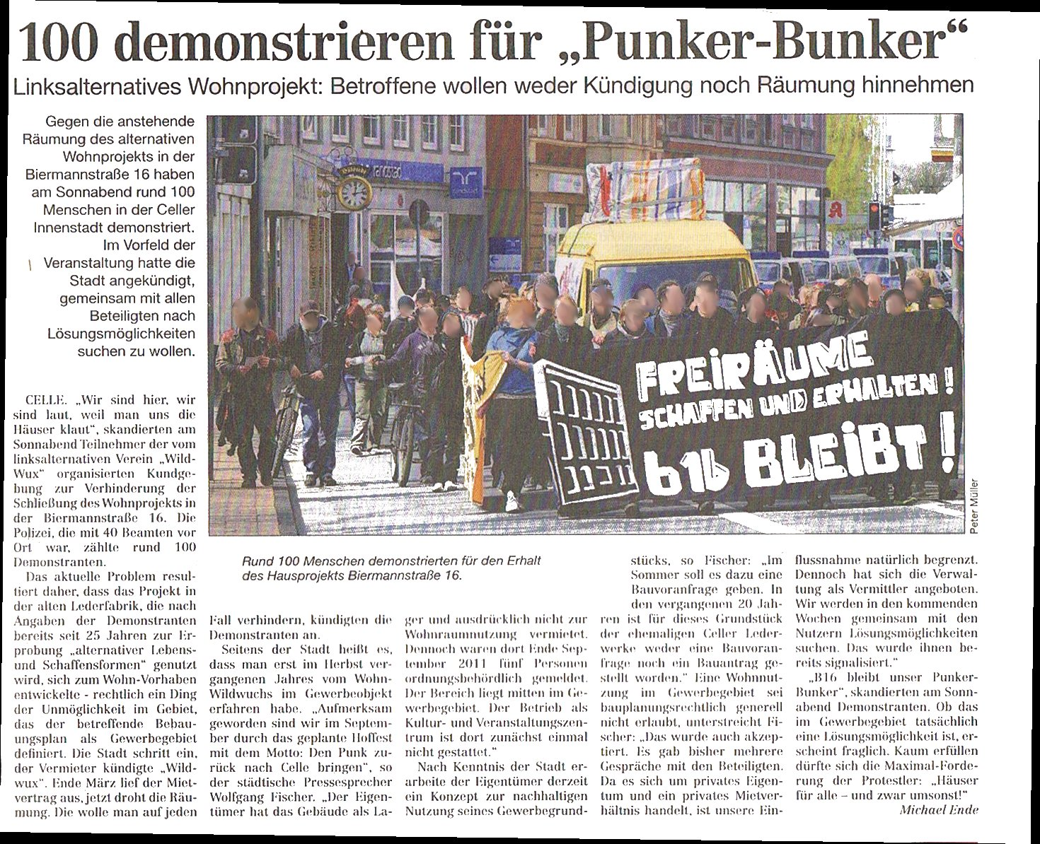 Cellesche Zeitung Zur Demonstration 171 B16